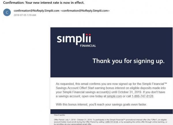 Simplii-Email-confirmation-for-bonus-interest.JPG