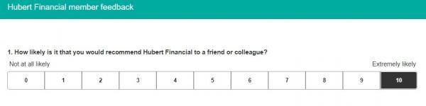Figure 1: Question #1 from Hubert member feedback survey taken April 24, 2020