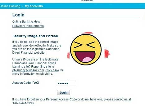 Canadian Direct Financial login part 2