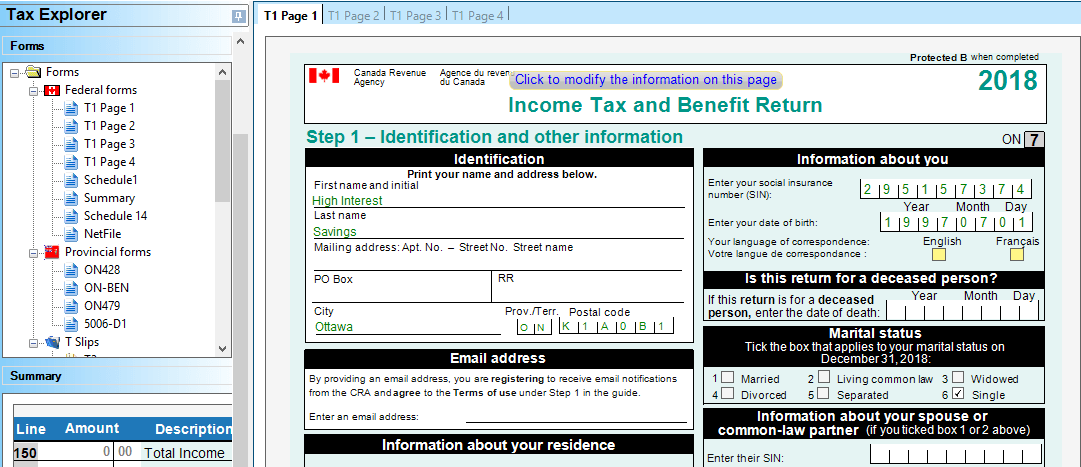 Free Canadian Income Tax Software in 2019 | Canadian High Interest