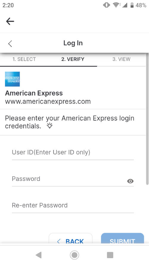 Ampli link to American Express
