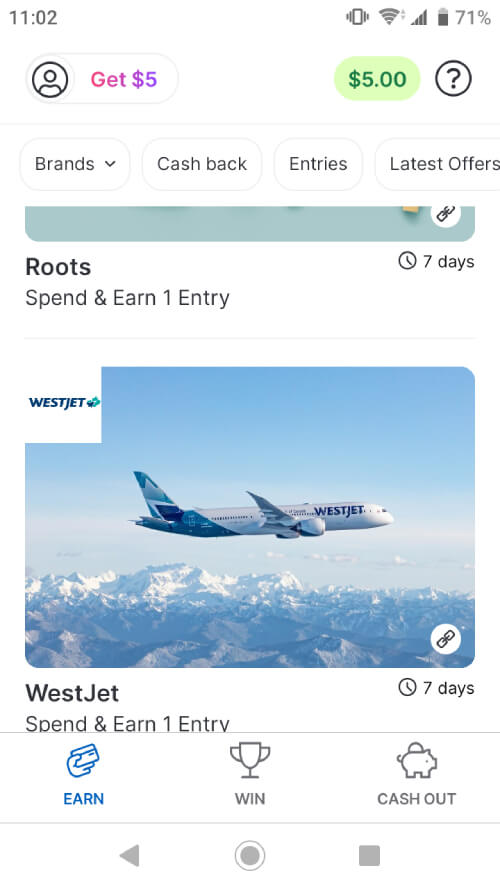 Ampli WestJet offer